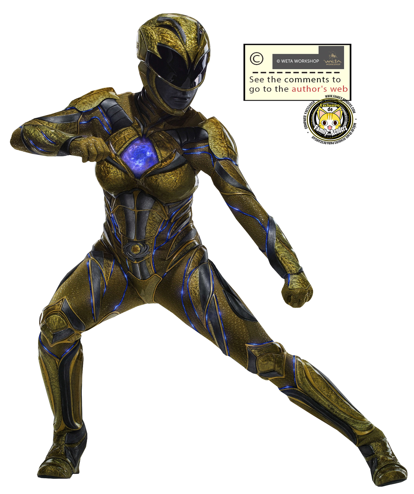 render Yellow Ranger