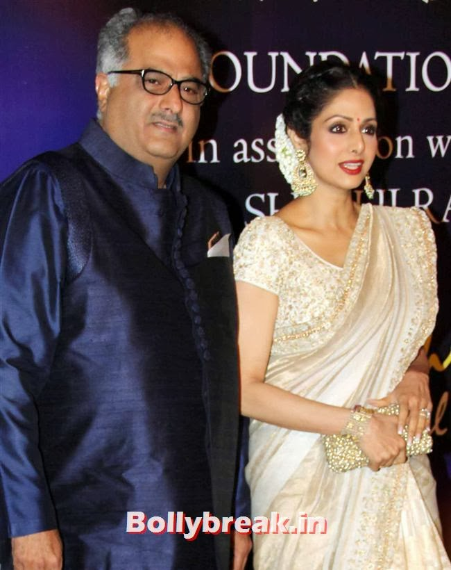 Sridevi and Boney Kapoor, Bollywood Beauties at Yash Chopra Memorial Awards