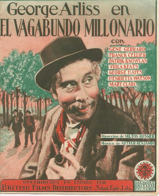 Programa de Cine - El Vagabundo Millonario (RAREZA) - George Arliss