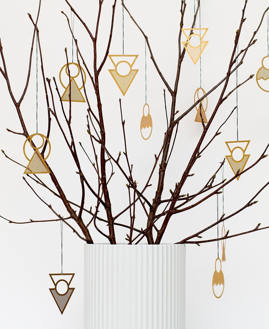Geometryczne Ornamenty Świąteczne