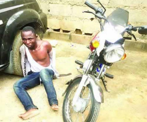 Man sneaks into church premises, steals motorcycle during service