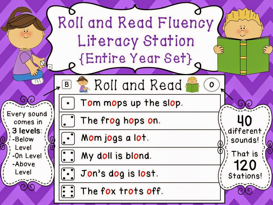 Phonics activities - roll and read differentiated fun