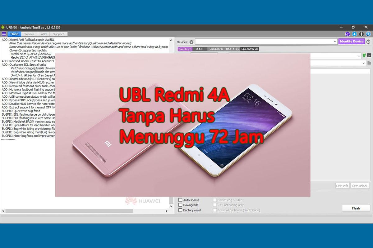 Unlock Bootloader Redmi 4A(Rolex) Tanpa menunggu 72 jam TESTED