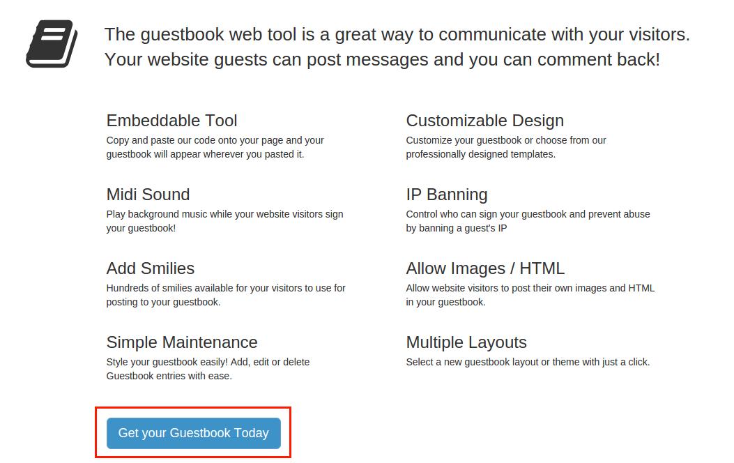 Bravenet Guestbook을 이용하여 Blogger 방명록 추가 방법 3. Guestbook 가입 신청