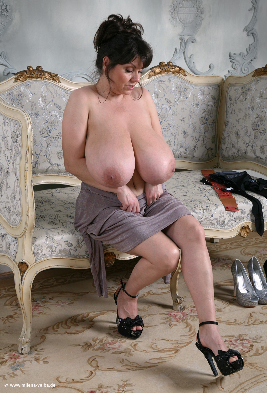 image Denise davies chubby with big natural tits threesome dp