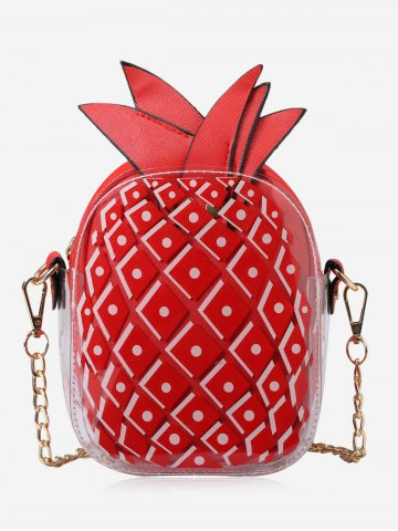 Burgundy pineapple bag