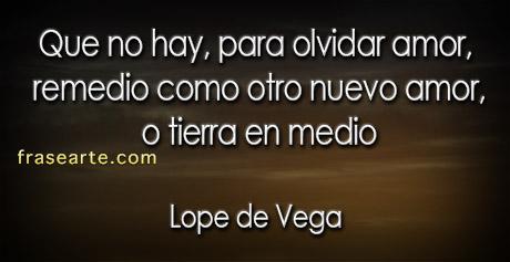 olvidar amores – Lope de Vega