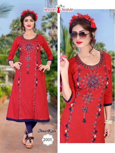 Ishaani Anarkali vol 2 Cotton Straight Kurtis Latest Design