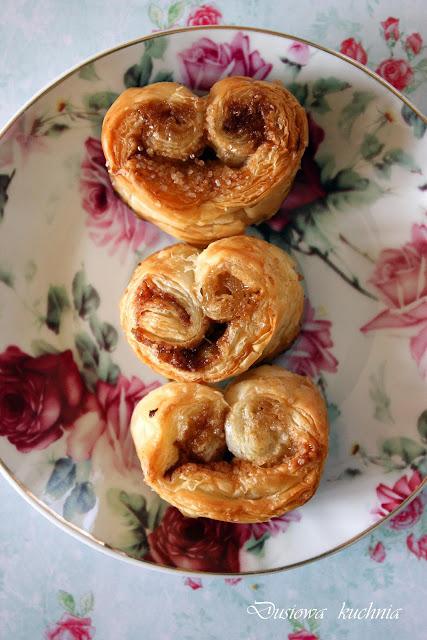 palmiery, cynamonowe palmiery, ciasteczka francuskie