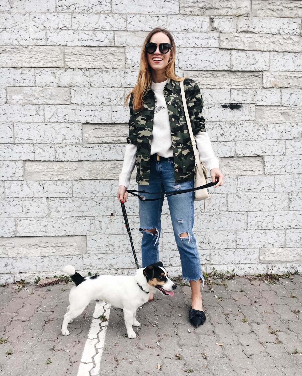 camo jacket outfit spring