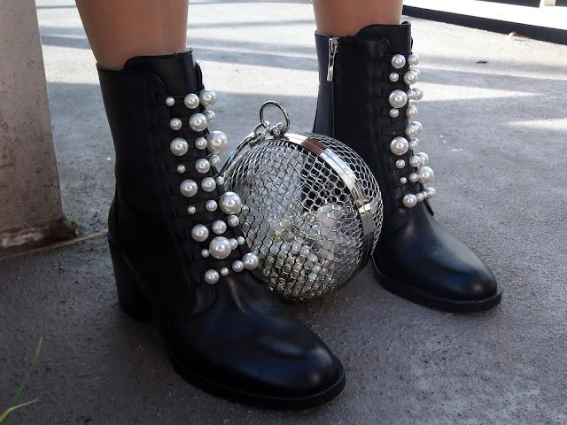 fashion, moda, look, outfit, blog, blogger, walking, penny, lane, streetstyle, style, estilo, trendy, rock, boho, chic, cool, casual, ropa, cloth, garment, inspiration, fashionblogger, art, photo, photograph, Avilés, oviedo, gijón, asturias, party, christmas, fiesta, navidad, perlas, pearls, estrella, star, brillo, shine,bag, bolso, Zara, Boohoo, asos,