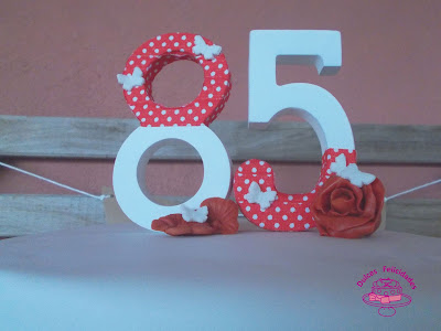 Tarta fondant 85 cumpleaños