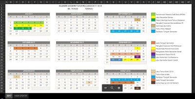 Kalender Akademik 2017/2018 PAUD/TK/RA/KB/TPA