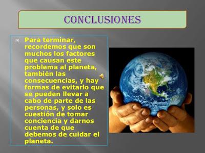 Conclusión contaminación Ambiental