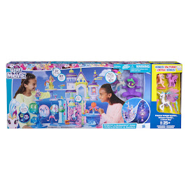 My Little Pony Canterlot & Seaquestria Playset with Bonus Spike Brushable Pony