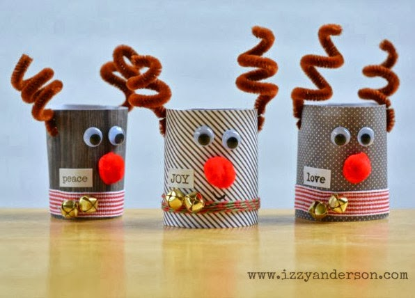 Write Snap Scrap Toilet Roll Reindeer Christmas Crafts For Kids