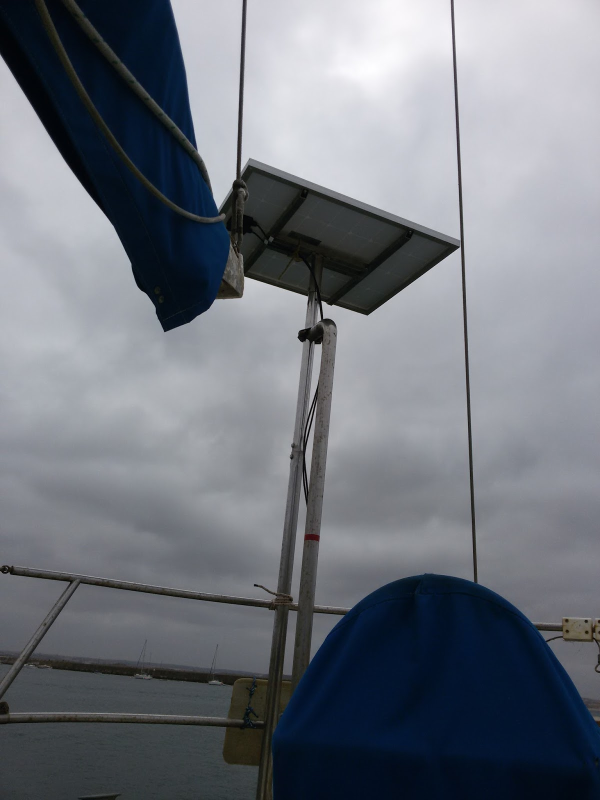 The Naked Boat And The Boatist Installing A Solar Panel