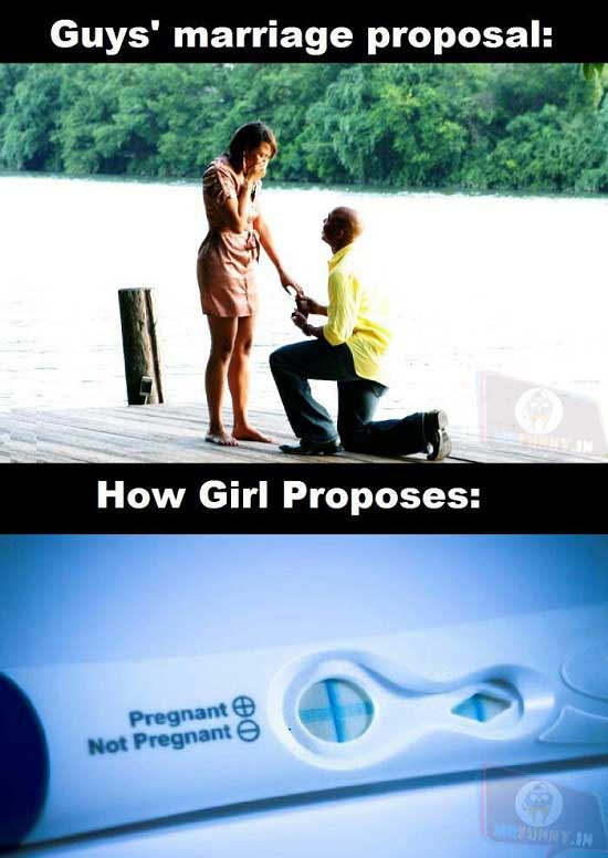 On marriage proposals
