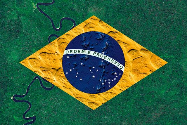 Artista recria as bandeiras dos países com paisagens de todo o mundo