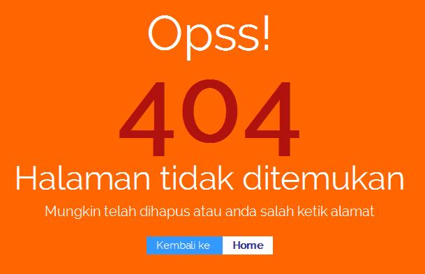 Apa Itu Halaman 404 Not Found pada Blog?
