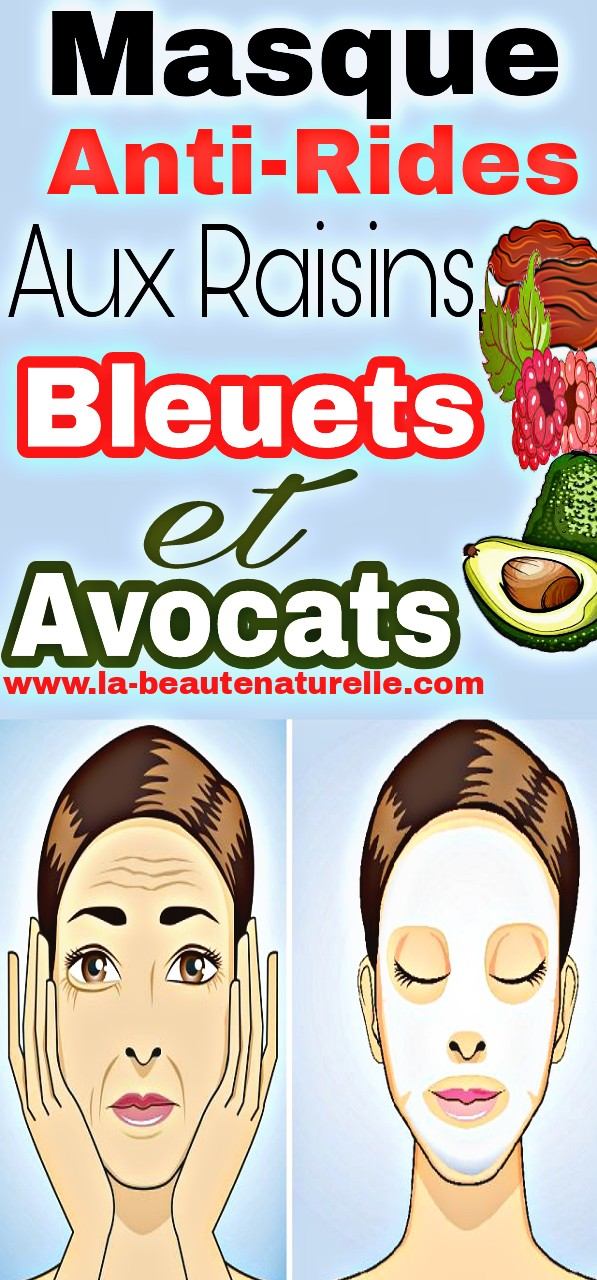Masque anti-rides aux raisins, bleuets et avocats
