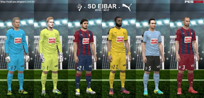 PES 2016 SD Eibar 16/17 Kits by Txak