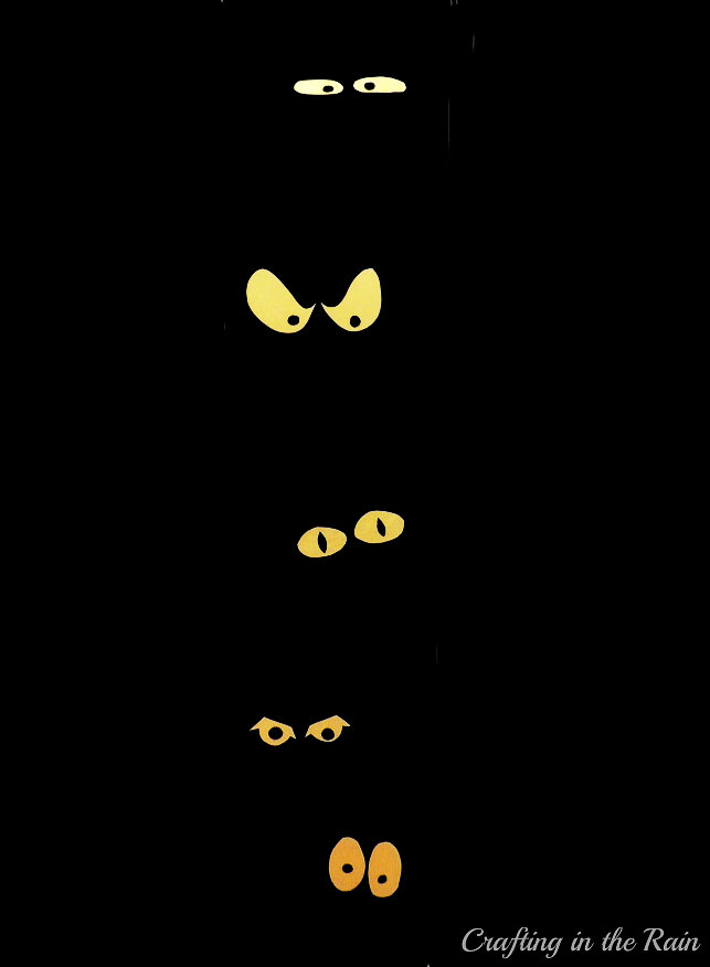 (20 crafty days of halloween) front door spooky eyes - See ...