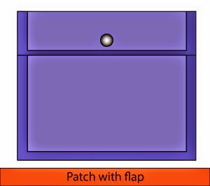 Patch with flap