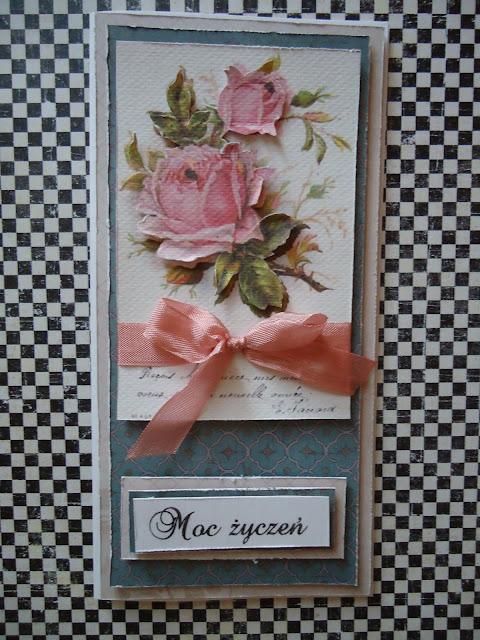 kartka diy z różą