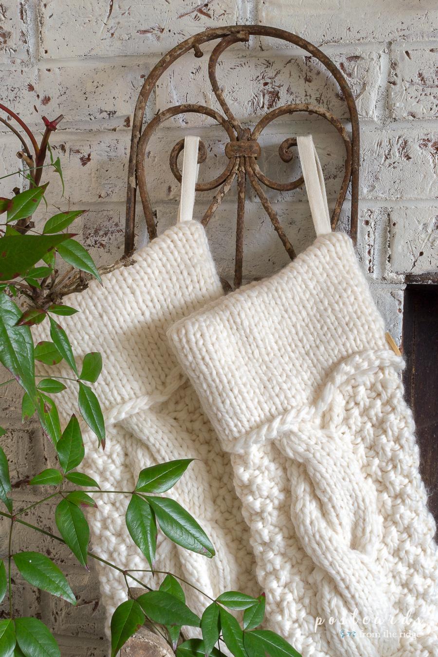 chunky knit Christmas stockings