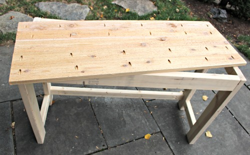 lemonade stand cedar top using pocket holes