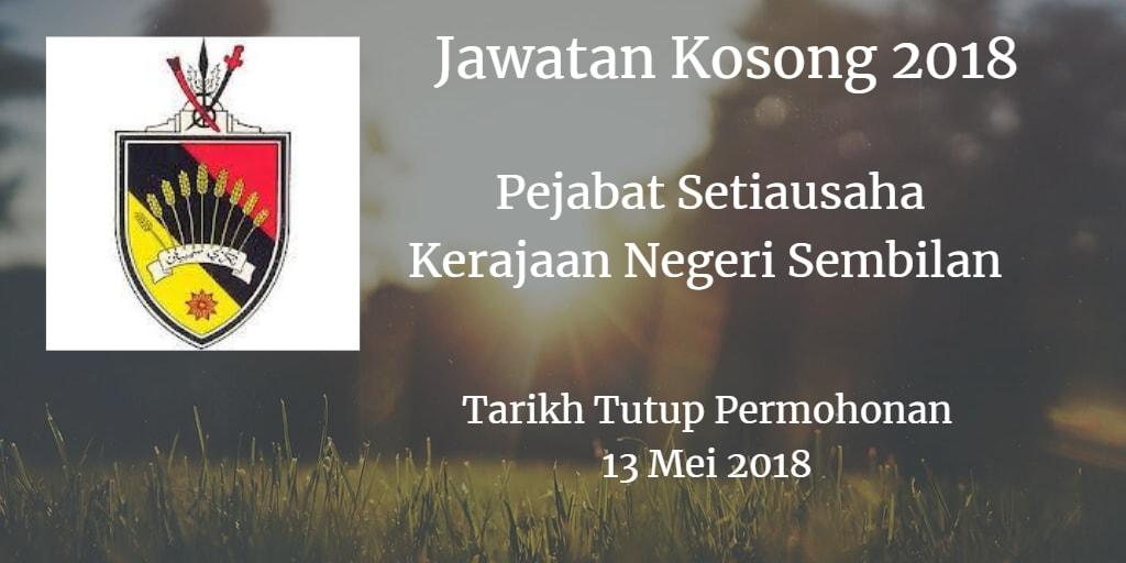 Jawatan Kosong Pejabat Setiausaha Kerajaan Negeri Sembilan 13 Mei 2018