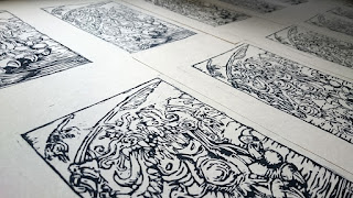 The Sammael prints all lined up together