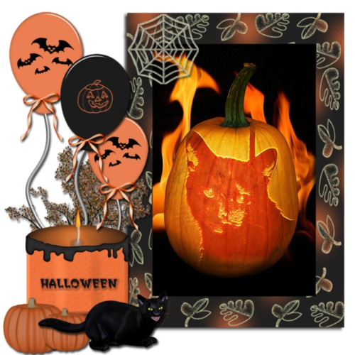 Melissa's Mochas, Mysteries and Meows: Pumpkin Art on Caturday