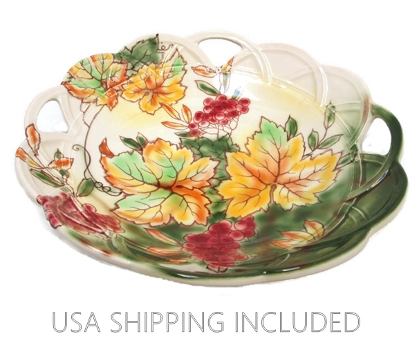 "Falcon Ware Hand Painted Bowl ""Rosslyn"" Pattern by Thomas Lawrence"