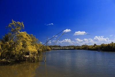 Jaring di kawasan konservasi mangrove
