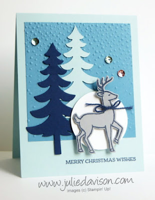 Stampin' Up! Santa's Sleigh Reindeer Christmas Card #stampinup 2016 Holiday Catalog www.juliedavison.com