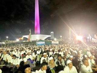 Malam Munajat 212, Penampakkan Jamaah Bikin Musuh Islam Ketar-Ketir