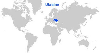 Gambar Peta letak Ukraina