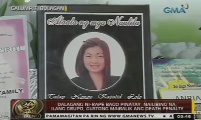 Anria Galang Espiritu was Brought to Her Tomb on August 23, 2014