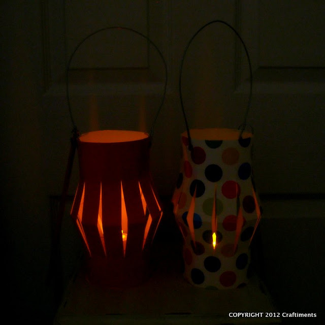 Craftiments.com:  Lit up paper lanterns