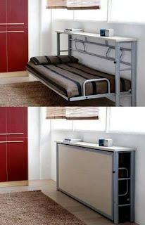cama con ahorro de espacio de hierro
