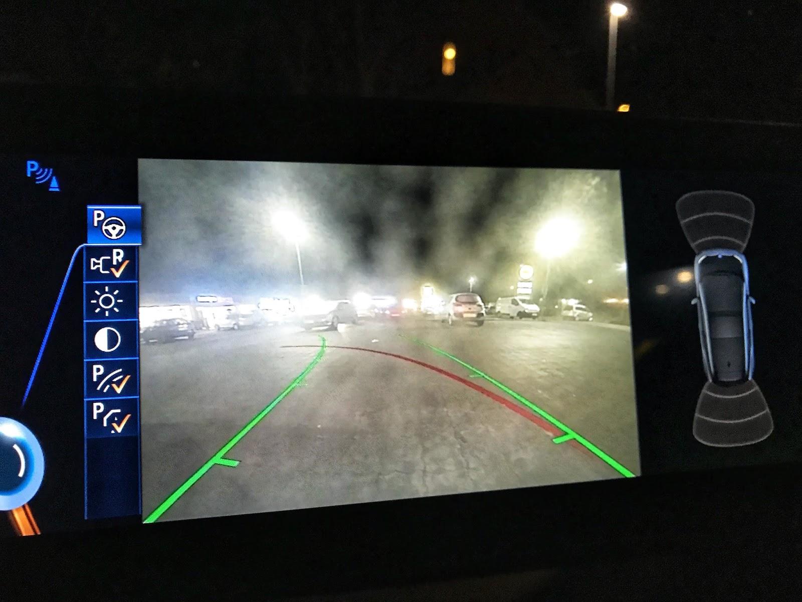 BMW i3 Electric Car Reverse Car Interior Dashboard