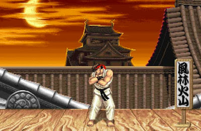 Ryu nel suo stage di ''Street Fighter II''