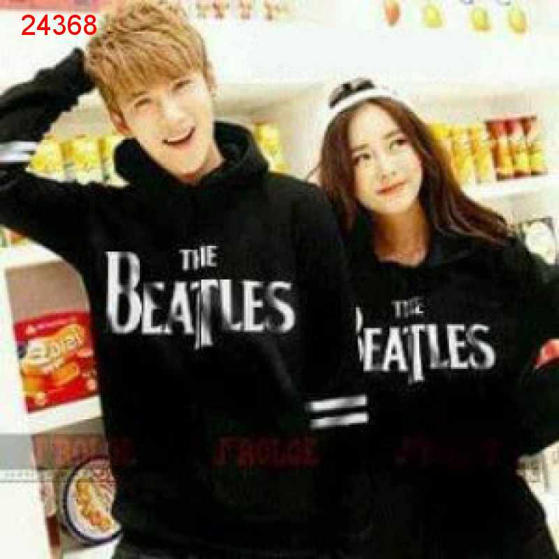 Jual Sweater Couple Sweater Beatles Hitam - 24368