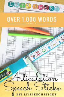 Using articulation sticks in speech therapy