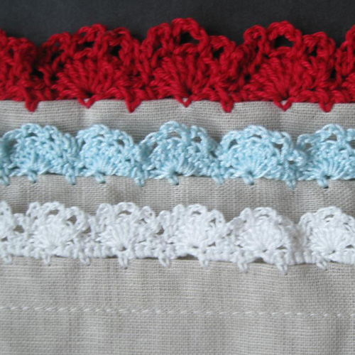 Eyelet Lace Crochet Edging - Free Pattern