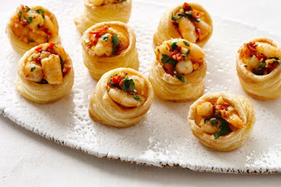 Chilli prawn vol-au-vents  meal ideas