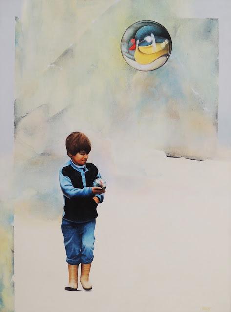 Horacio Gomez pintura niño jugando