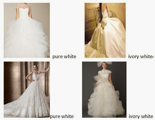Fashion Trend Women Clothes On Show The difference between Pure white and Ivory weeding dresses